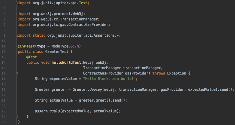 Easily test Ethereum smart contracts using Web3j-unit